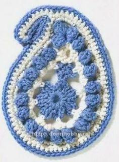 Мотивы для вязания крючком crochet Irish crochet paisley motif