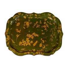 Green Paper Mache Tray