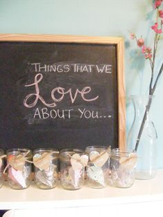 Valentine's Day Blessing Jars - family members write small notes to one another and places in jar to read on Valentine's Day