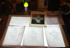 """NYC Artist Alex Gardega shows how he used the Artograph LightPad 950 to lay out his sketches before he completes his final """"Bar Room"""" piece. See more of Alex's work at www.gardega.com"""