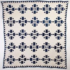Jacob's Ladder Quilt: Circa 1880; Pennsylvania