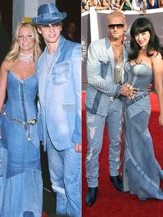 VMAs 2014: Katy Perry Pays Homage to Britney Spears In an All-Denim Dress