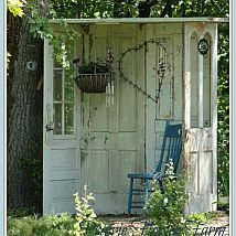 Outdoor Nook made from old doors.....lovely!