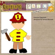 Download Free Fireman Paperdoll Cutting File GSD SVG ( Cricut/SCAL) KNK and WPC formats @ quillingpatch.com