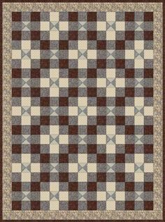 Great boy or man quilt. Love the masculine color combo too.