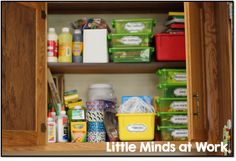 organizing supplies with freebie labels!