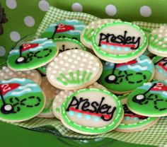 golf party cookies birthday parti, golf cooki, golf outing, birthday cookies, golf party, golf parti, parti idea, themed parties, golf theme