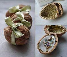 Gift in a walnut