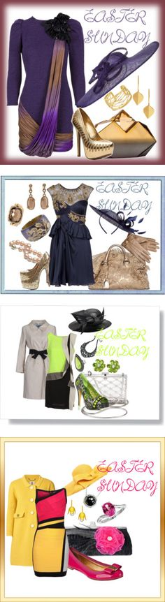 """""""Easter Sunday Outfits"""" by lizzyslegs ❤ liked on Polyvore"""