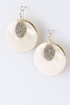 Golden Crystal Raeleen Earrings on Emma Stine Limited