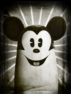Mickey Mouse fingerology art finger painted by Dito Von Tease @theskunkpot