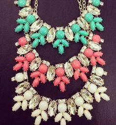bling, baubl bar, statement necklaces, style, bauble bar, color, accessori, fashion idea, jewelri