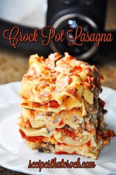 Easy Crock Pot Lasagna - Recipes That Crock!