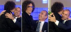 Howard Stern kisses Lauer.