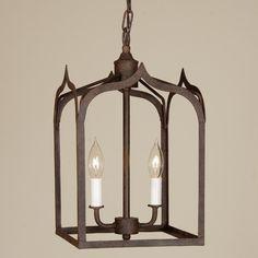 JVI Designs Gothic 2 Light Small Foyer Pendant