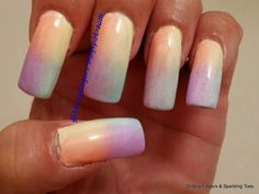 Glittery Fingers & Sparkling Toes: Pastel Gradient