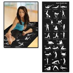 Back Health Yoga Mat with 28 Positions