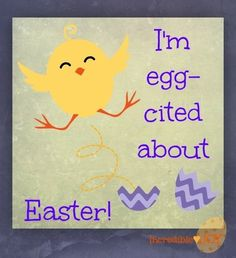Happy Easter Quotes with Chick, Hand Painted, Easter Card #2014 #easter #quotes www.loveitsomuch.com