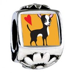 Chihuahua Dog European Charms  Fit pandora,trollbeads,chamilia,biagi and any customized bracelet/necklaces. #Jewelry #Fashion #Silver# handcraft #DIY #Accessory