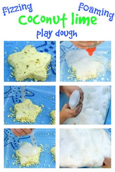 Fizzy Coconut Lime Play Dough