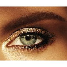 Gold/Brown Eye Shadow, pretty more natural look
