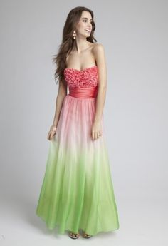 Prom Dresses 2013 - Long Ruffle Twist Ombre Grecian Prom Dress from Camille La Vie and Group USA