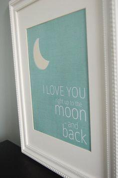 to the moon & back nursery print