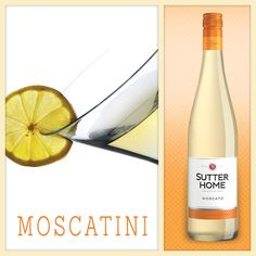 Keep that summer feeling going with this Mocsato twist to your martini glass.