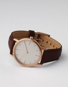 152 PVD Rose Gold & Walnut by Uniform Wares $310