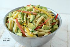 Avocado Pasta Salad with a Creamy Dijon Mustard Dressing | Foodness Gracious