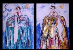 Meninas en el blog donde ofrezco mis cuadros