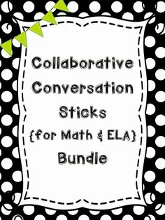 Collaborative Conversation Sticks for ELA and Math will help tour kids stay focused, frame their thoughts and allow them communicate ideas and questions.  Great for ELLs and timid students. Fancyfreein4th