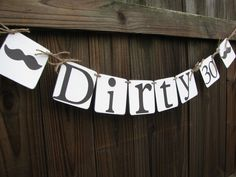 dirty thirty birthday decorations