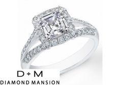 Price: $12,295.00 2.66Ct ASSCHER CUT DIAMOND ENGAGEMENT RING EGL VS2-I - Unique wedding ring