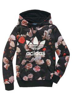 Floral adidas hoodie.