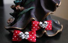 Dia De Los Muertos Bows   www.jaebellaboutique.etsy.com
