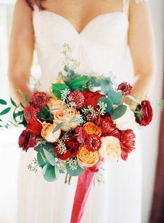 red + orange bouquet