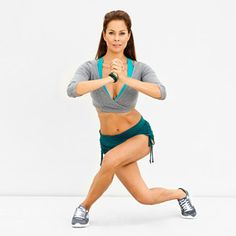 crisscross lunge...Amazing...your legs and backside will burn!!!