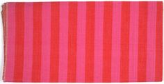 Alexander Girard, Mexicotton Stripe #1233 varied use fabric [pink and crimson], 1961