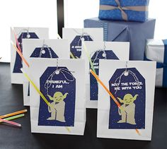 StarWars party Yoda favors