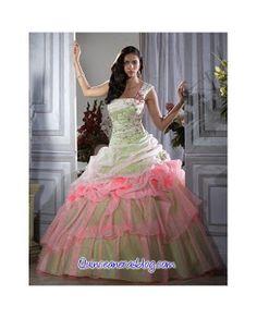 Vestido color Rosa y Blanco para 15 años 2013-2014