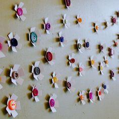 Button flowers wall art.