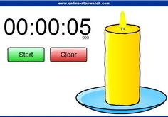 Fun and funky classroom timer! This is candle timer. The candle will start diminishing as the time runs out, and then give out a chiming music at the end!
