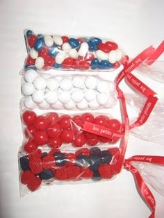Treats for the fireworks show. #July_4 #Patriotic #Treats #Favors