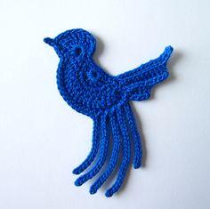 Crochet bird applique ... Inspiration only