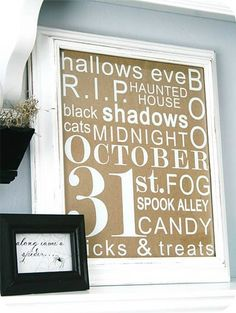 Halloween Subway Art Decal - The House of Smiths Designs Shop #subwayart #halloweendecor halloween decorations, holiday, subway art, decorating blogs, halloween themes, subway sign, halloween pictures, halloween decorating ideas, halloween signs