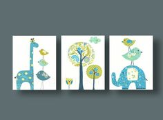 In love with Galerie Anais  on etsy for the twins nursery!!