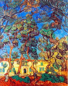 """""""Grounds of the Asylum""""  by Vincent van Gogh (1889)"""