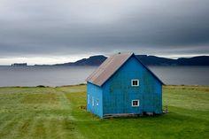 barn, dream, color, blue green, blue houses