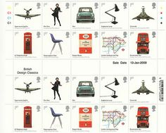 British design classics stamps